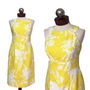 MUSE sunshine yellow floral sheath dress 4